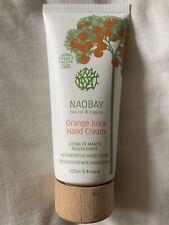 Naobay Natural & Organic regenerativa Crema para las manos, jugo de naranja 100ml. nuevo vegano.