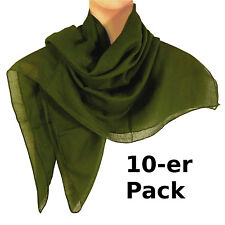 Pañuelo verdes oscuro pack 10 algodón 100x100cm fular accesorio moda