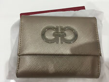Salvatore Ferragamo Small French Flap Ladies Wallet (Light Bronze)