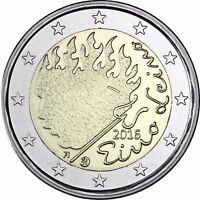 Finnland 2 Euro Münze Eino Leino 2016 bankfrische Gedenkmünze unzirkuliert