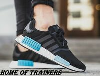 Adidas NMD R1 Runner Boost Core Black Mint Icy Blue Women's BY9951 All Sizes
