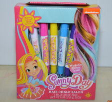 Sunny Day Hair Chalk Salon 5 Pens - Works on All Hair Types New Nickelodeon
