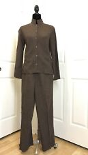 Eileen Fisher Tweed Pant Suit Set Size XS Not Lined/ Excellent