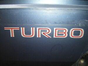 Mitsubishi Cordia TURBO word decals/STICKERS. 2 per order.