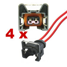 Fuel Injection Connectors - BOSCH EV1 SHORT with cable (4 x FEMALE) plug fcc