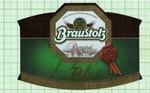 GERMANY Braustolz Brauerei Pils  beer label B111 025