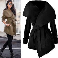Women Ladies Collar Winter Trench Coat Warm Parka Overcoat Long Jacket Outwear R