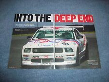 "Ford FR500S Mustang Challenge Race Car Info Article ""Into the Deep End"""