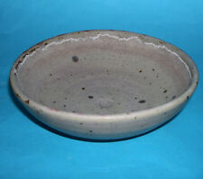 Studio Pottery - Handsome Greyish Stoneware Bowl With Dark Specks (M.Marks).