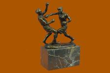 Last Rotondo Boxer Fatto a Mano Originale Scultura in Bronzo Statua Figurina T