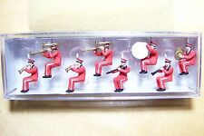 HO Preiser 20259 Seated Circus Band ( Red Uniforms ) FIGURES