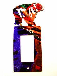 Orso Singolo Sedia a Dondolo Presa Cover Da Acciaio Immagini Made IN USA 022515T