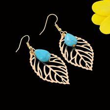Tibet Silver Turquoise Beaded Dangle Drop For Women Earrings Jewelry Hook