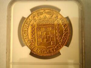 1726 M BRAZIL 20000 REIS GOLD COIN NGC