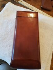 Large leather cigar travel case NEW