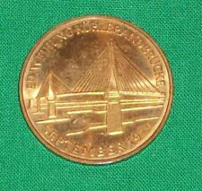 1974 HAMBURG GERMANY GERMAN de COIN KOHLBRAND BRIDGE KOHLBRANDBRUCKE MEDAL TOKEN