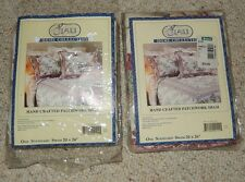 2 PINK FLORAL QUILTED STANDARD FULL SIZE PILLOW SHAM NIP