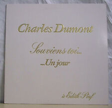 """33T Charles DUMONT Disque LP 12"""" SOUVIENS TOI..UN JOUR à Edith PIAF PATHE 172769"""