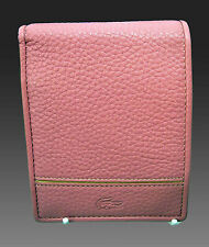 New Authentic Vintage LACOSTE UnisexLEATHER WALLET  Palio 17 Pink