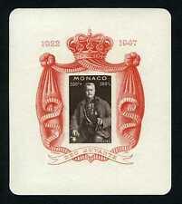 1947 MONACO BLOC N°02 NON DENTELE PRINCE LOUIS xx