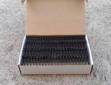 """28.5mm(1+1/8"""") TWIN LOOP BINDING WIRE 23 Loop x 30's - Black/White/Silver"""