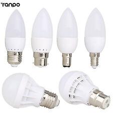 B22 E27 E14 B15 LED Bulb Globe Candle Light 3W 5W 7W 9W 12W 5730 SMD White Lamp