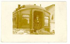 Morrisville VT -WILLIAM JENNINGS BRYAN ON TRAIN- RPPC Postcard Railroad Vermont