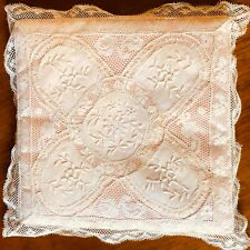 French Normandy Lace Vintage Handkerchief Case