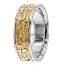 Celtic Wave Wedding Bands Rings 18K Gold Celtic Mans Womans Wedding Bands Rings