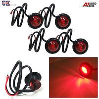 4X 24V OUTLINE ROUND SIDE MARKER 3 LED RED LIGHTS LAMPS FOR MAN DAF SCANIA VOLVO