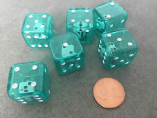 NEW Set of 6 Green Double Six Sided Dice Game RPG Math 2-In-1 Dice
