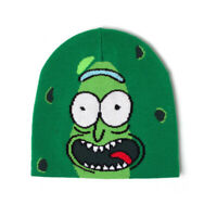 Rick And Morty Pickle Rick Face Cuffless Beanie Green