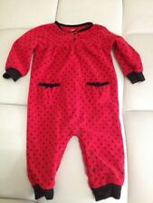 Just One You 12 Months Girls Red/Black Polka Dot Fleece Outfit So Sweet