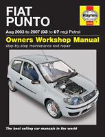 Fiat Punto 1.2 Petrol 2003 - 2007 Haynes Manual 4746 NEW