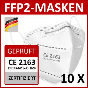 FFP2 Masken Schutzmasken Atem Einweg Mundschutz Maske CE2163 zertifiziert NEU