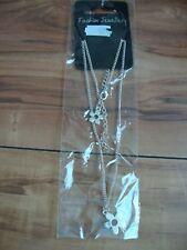 NEW Silver Flower Fashion Necklace Set - Ideal Gift / Birthday / Wedding