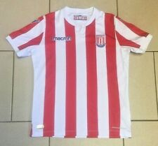 ** Stoke City Football Shirt - Macron - Home Red & White - Size M JR XXS **