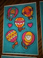 Mark I Scratch & Sniff 1983 Package Hot Air Balloons,Butterflies,3 styles. 60 pc