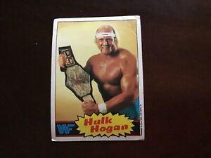 1985 Topps WWF WWE Hulk Hogan #1 Rookie Yellow RC Wrestling Card Fair Condition