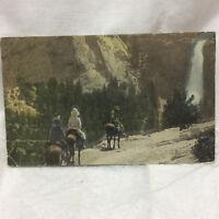 Vintage Postcard Nevada Falls Yosemite Valley Scene 1929 Nevada