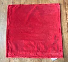 "Pottery Barn Cherry Red Washed Velvet Pillow Cover 20"" X 20"" - New"