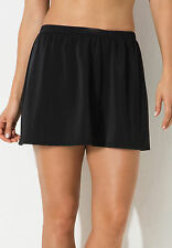 NEW! SHORE CLUB SZ 30 BLACK SWIMSKIRT-ATTACHED BRIEF