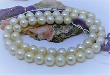 """GENUINE SALTWATER SOUTH SEA WHITE PEARL 15.75"""" STRAND 7.5-8.5mm ROUND INDONESIA"""