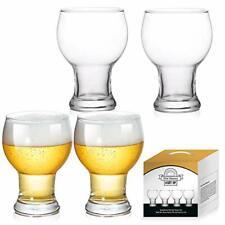 Beer Pint Glasses Set of 4 Ultimate Glasses Stackable Pilsner Craft Beer 16 oz