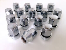 Ford Ghia alloy wheel Sleeve nuts with washer. Set of 16 x M12 x 1.5 19mm Hex