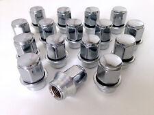 FORD ghia dadi della ruota sulla manica con rondella. Set di 16 x m12 x 1.5 19mm Hex