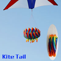 Colorful Rainbow Kite Tail Windsock Line Laundry Flower Tail Kite Flying