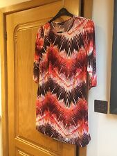 Beautiful Soft Jersey Leaf Design Long Top , Nwts, Size 18