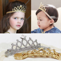 US Hair Accessories Baby Girls Queen Crown Hairband Headband Kid Tiara Birthday