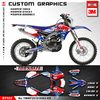 Kungfu Graphics Sticker Kit for Yamaha WR250F WR450F YZ450FX 2015 2016 2017 2018